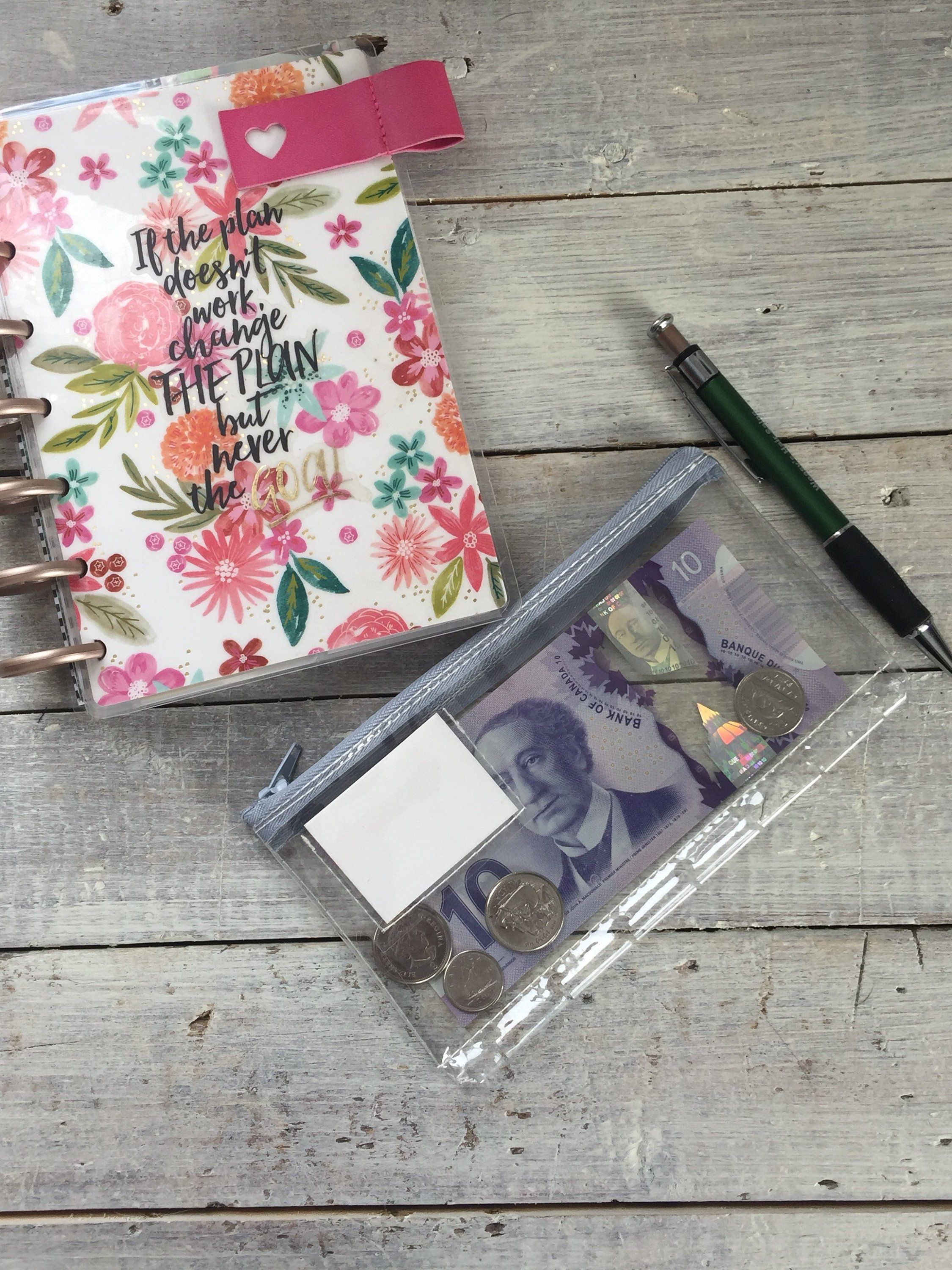 Mini Happy Planner Zippered Pockets - Planner accessories