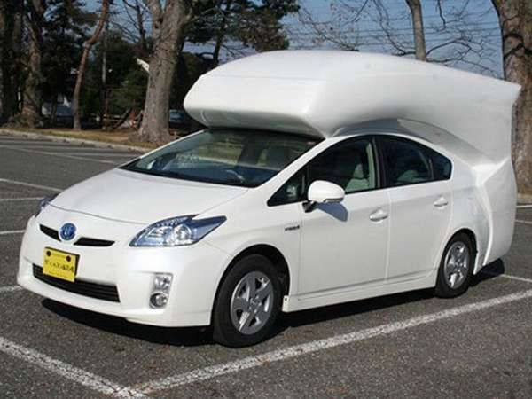 Hybrid Tent Attachments Toyota Prius Luxury Campers Car Camper