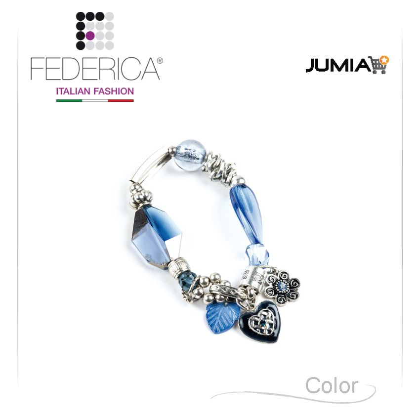 Bracelet RITA 1  Stretch metal and crystal bracelet. Blue. 1.900,00 Ksh http://www.federicafashion.com/it/ep103/bracelet-rita-1/ http://www.jumia.co.ke/federica-fashion/