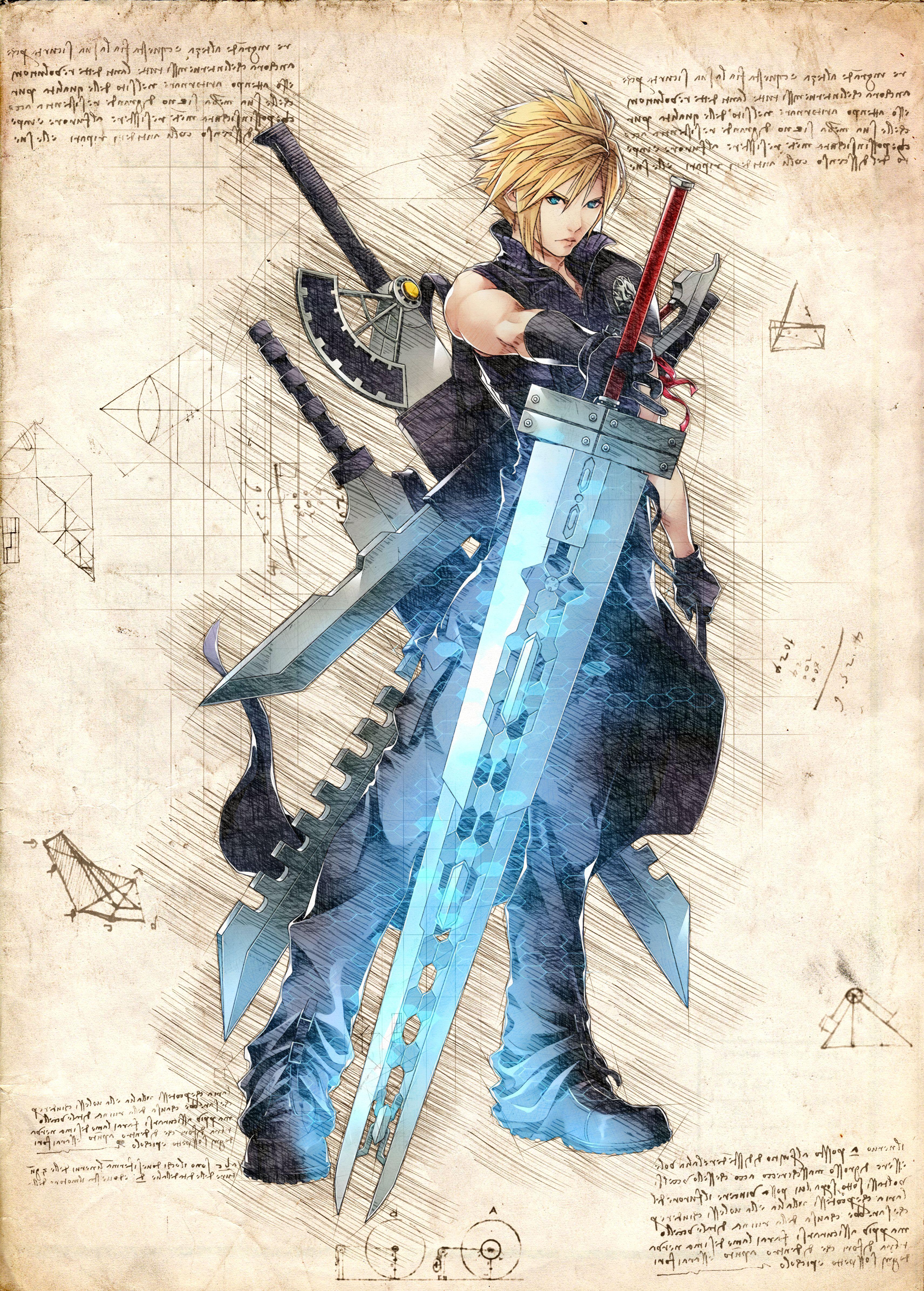 Cloud Strife Final Fantasy Vii 7 Ffvii Artwork Wallpaper Poster