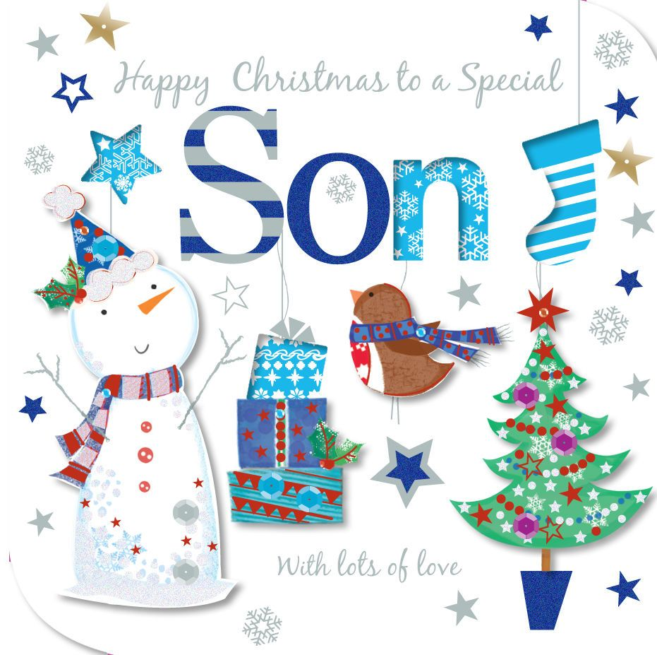 Special son happy christmas greeting card embellished talking special son happy christmas greeting card embellished talking pictures cards m4hsunfo