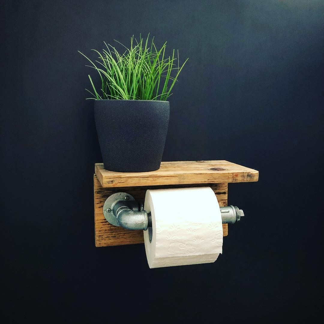 Papier Rollen Halter Zubehör Rustikal Industrial Schwimmende Badezimmer Toilette