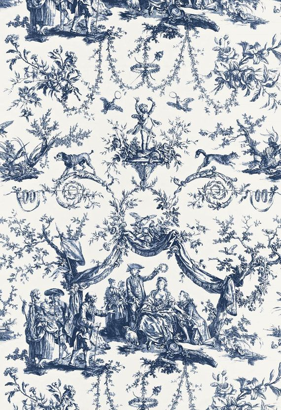Schumacher le couronnement de la rosiere french toile for French toile fabric