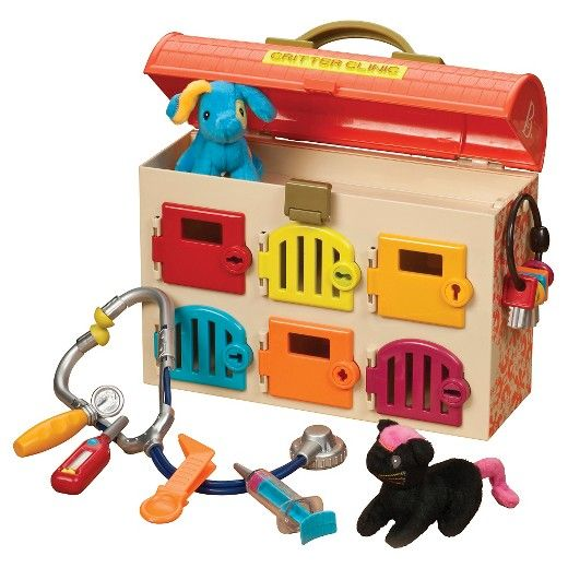 B Critter Clinic Vet Kit Pet Vet Plush Animals Preschool Toys