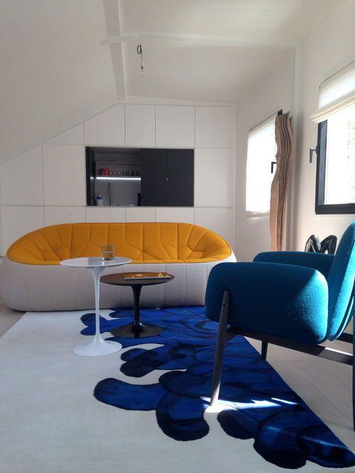 Idée de décoration pour une salle de séjour design de taille moyenne