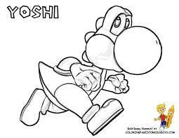 super mario yoshi coloring pages