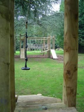 JC Gardens Zip Wires Will Add A Sense Of Adventure To Any Garden   Customer  Built To Your Specifications.