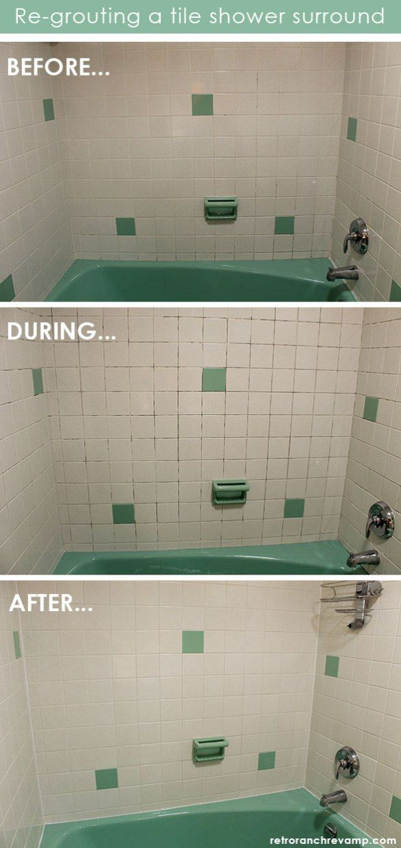 Regrouting A Shower Inexpensive Bathroom Remodel Bathtub