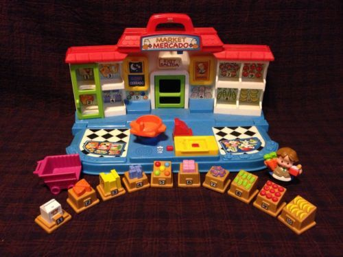 Fisher Price Little People Shop 'N Learn Market English Spanish Complete | eBay