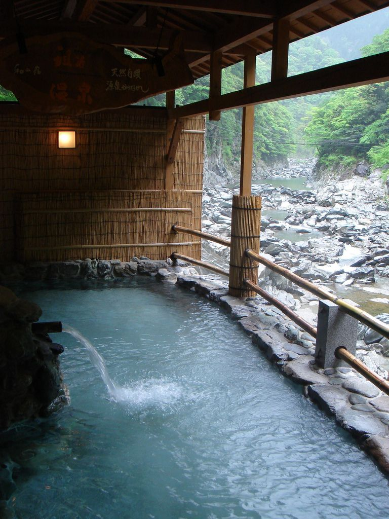 Iya Onsen, Tokusima, Japan. My favorite memories of Japan. I LOVE IT! Comfortable, open-air Hot Spring along a clear water rapid, at the bottom of deep V-shaped valley.