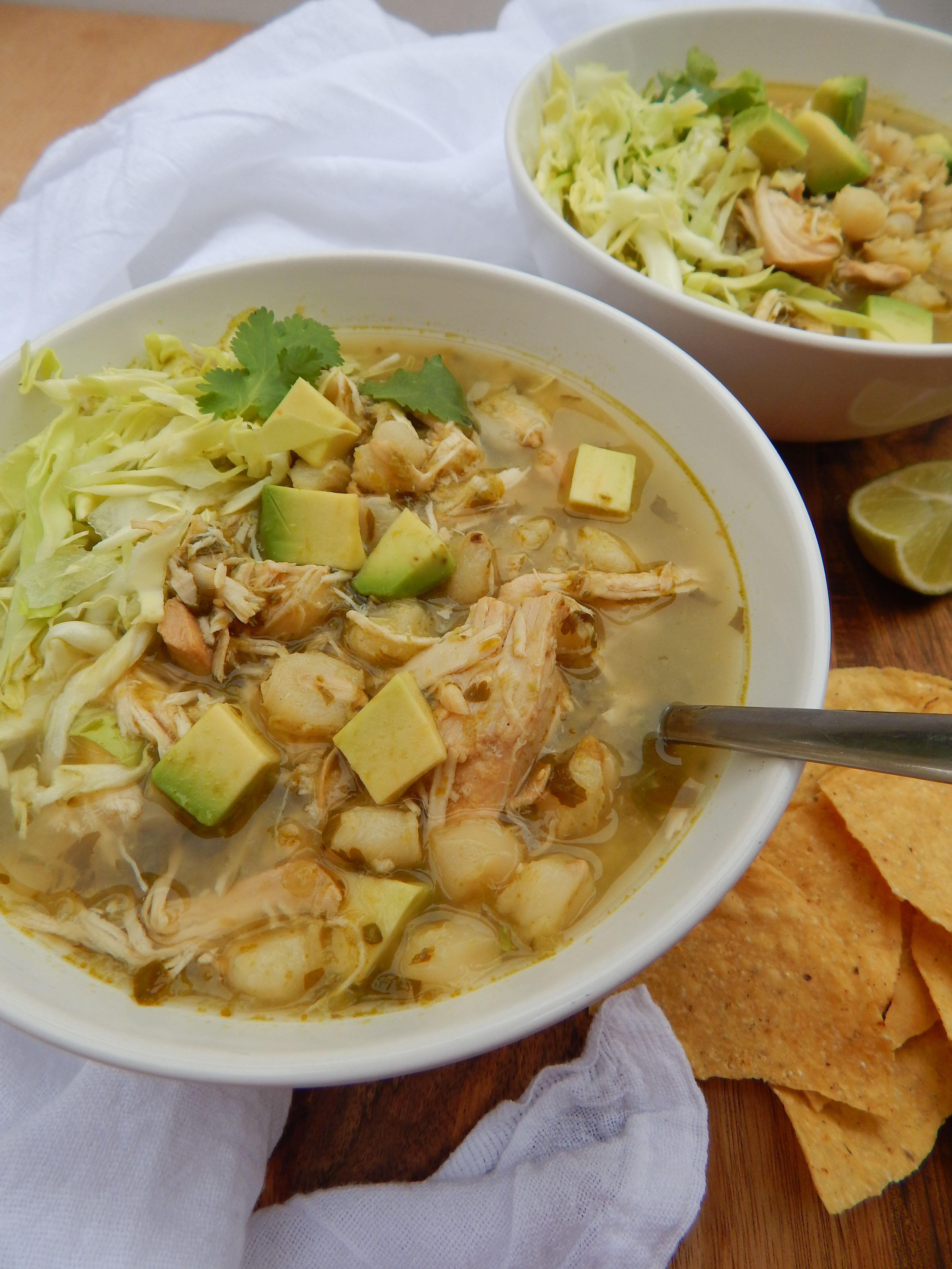 Slow Cooker Chicken Pozole Verde Posole Recipe Chicken Pozole Recipe Slow Cooker Posole
