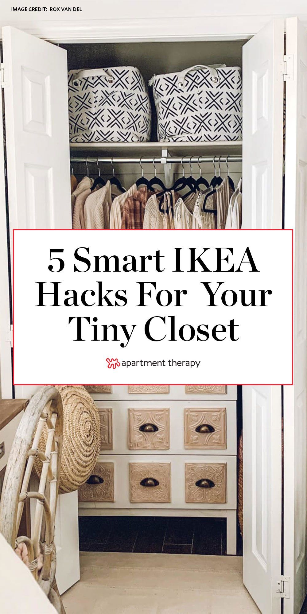 5 Smart Ikea Hacks To Pack More Storage Into Your Tiny Closet In 2020 Ikea Hack Tiny Closet Ikea