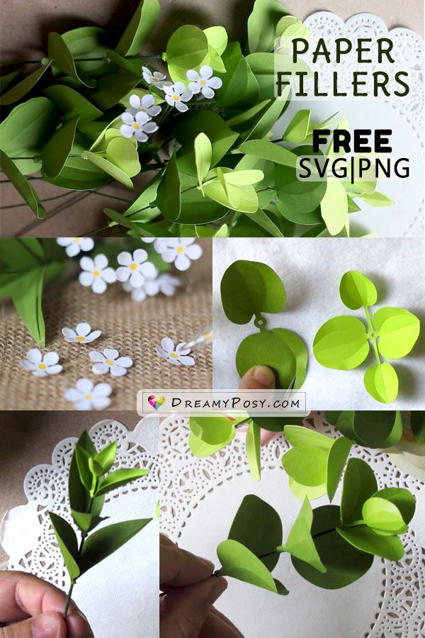 How to make paper flower fillers, free templates and tutorial
