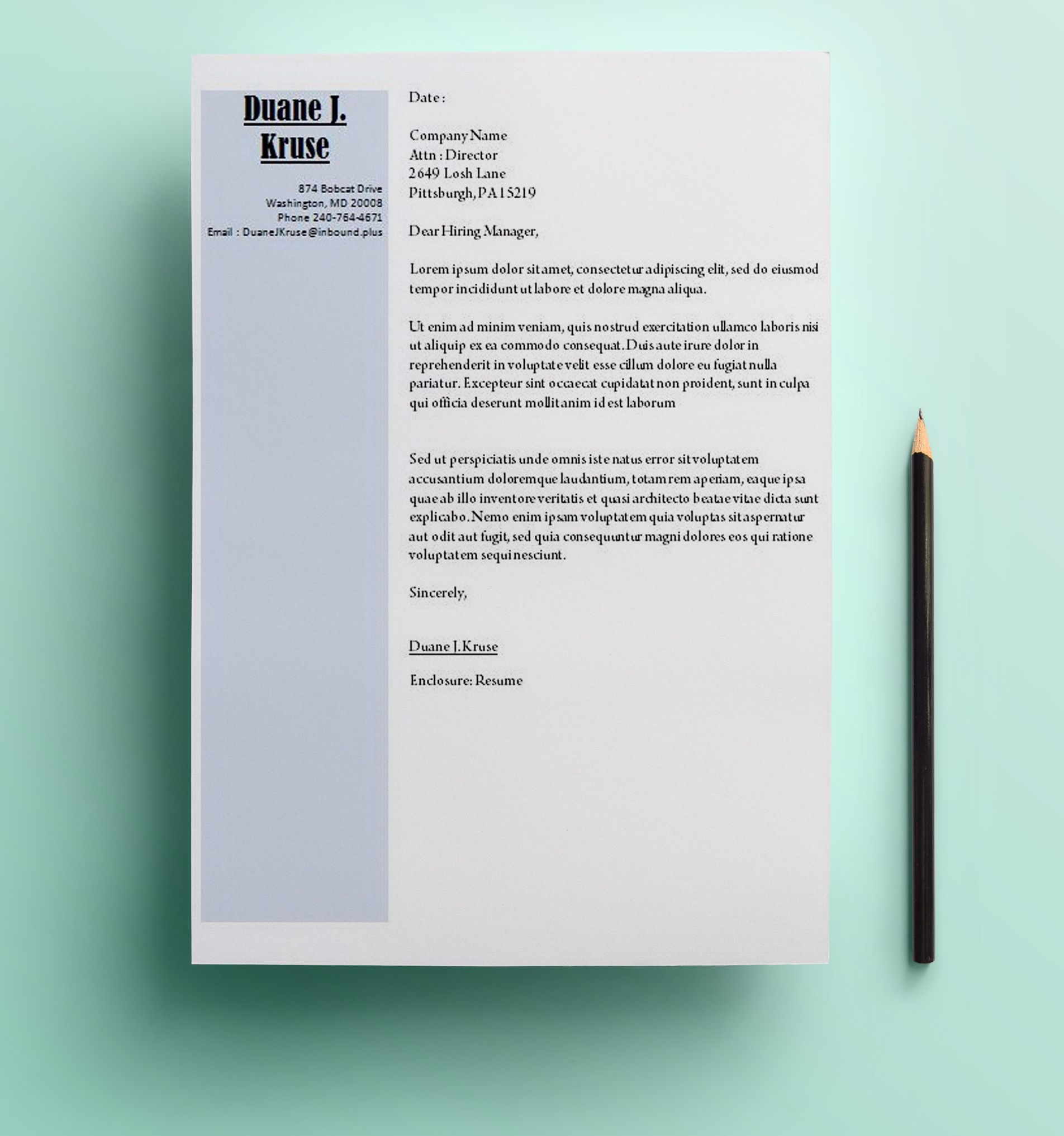 unique diagonal cover letter template for microsoft word https