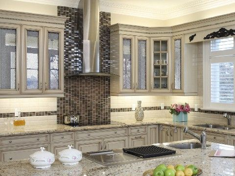 Mirrored Kitchen Cabinets - Rooms
