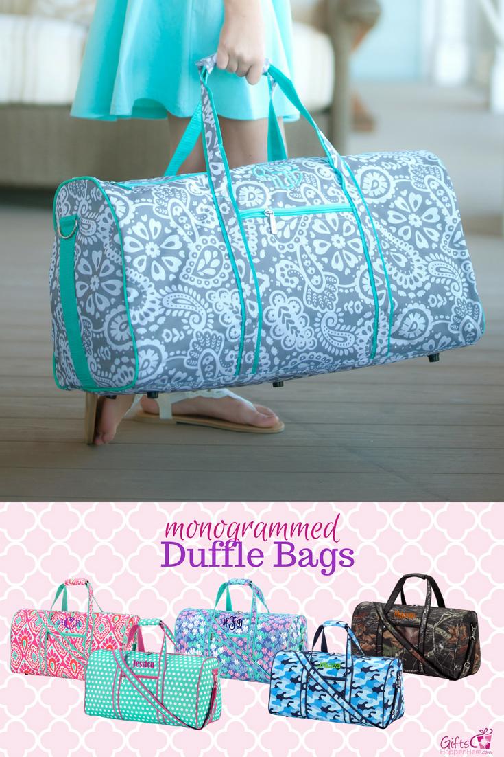 Personalized Large Barrel Duffel Bag Kids Travel Blue