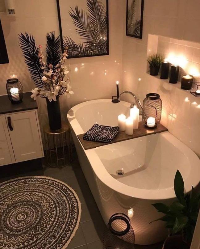 Cozy Bathroom Bathtub Design