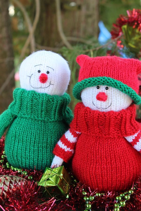 Snowman Knitting Pattern   Ganchillo navidad, Ganchillo ...