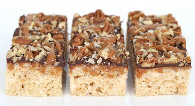 Glorious Treats: {Recipe} Caramel Turtle Rice Krispies Treats