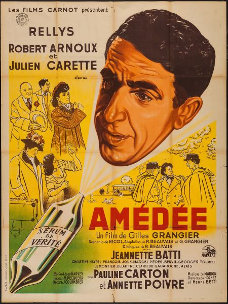 "Movie Posters:Foreign, Amedee (Les Films Carnot, 1950). French Grande (47"" X 63"").Foreign"