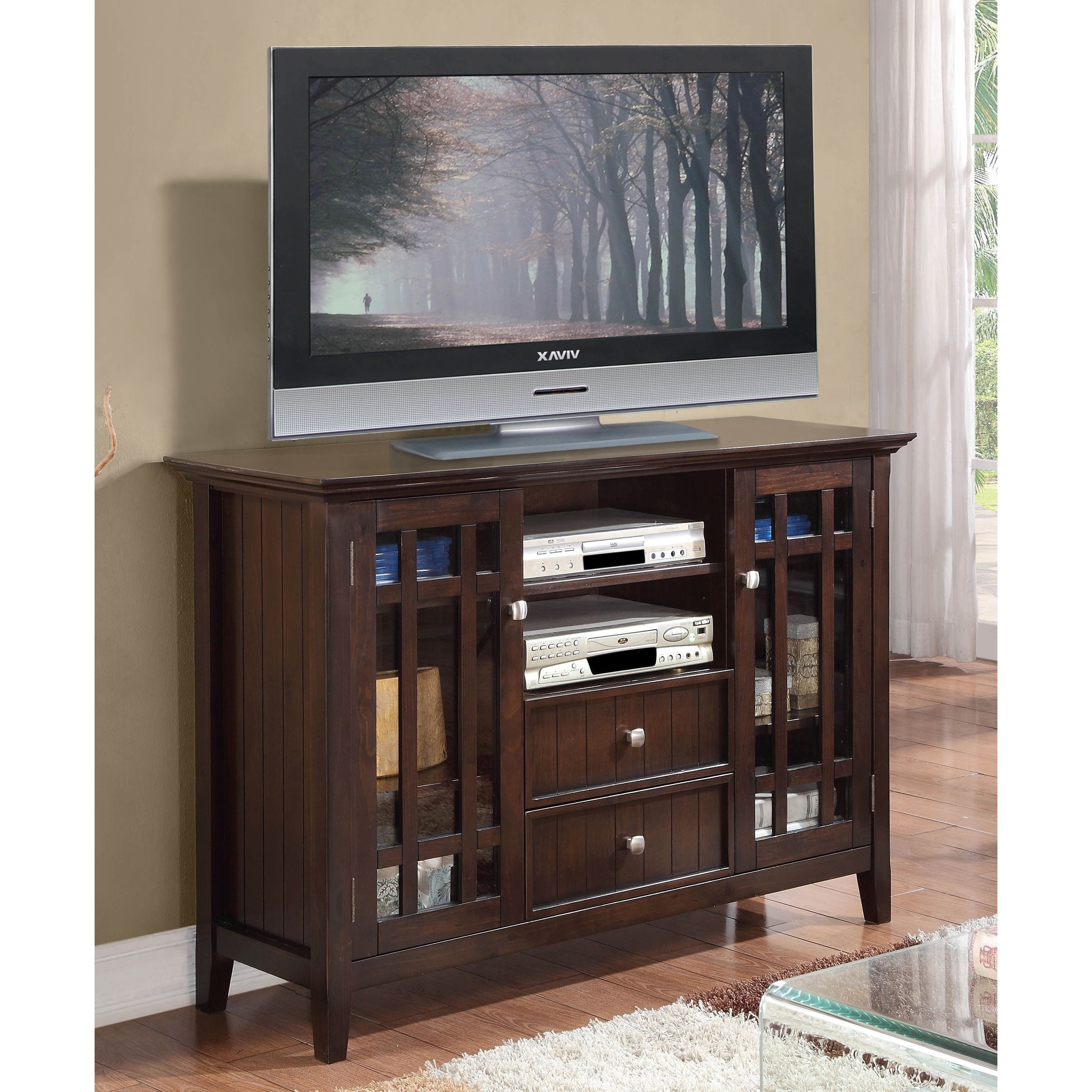 The Freemont Collection 54 Inch Wide Tv Media Stand Is An Elegant
