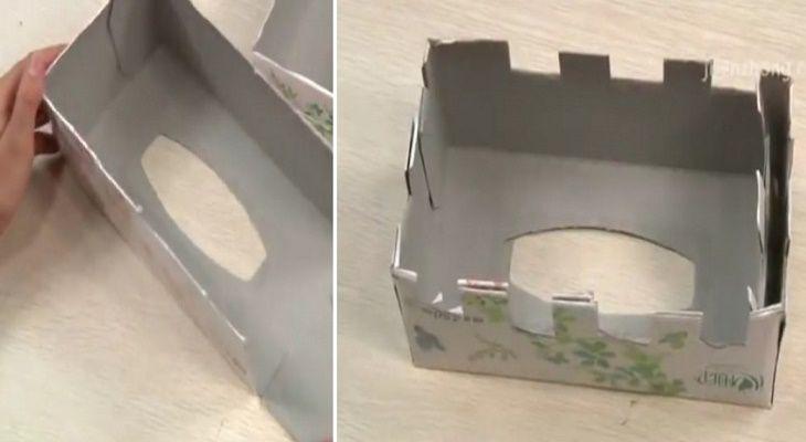 Você pode realizar um cachecol de lã com uma caixa?