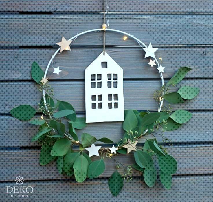 DIY: Décoration de Noël pour le mur avec des anneaux en métal Deko-Kitchen DIY: Décoration de N