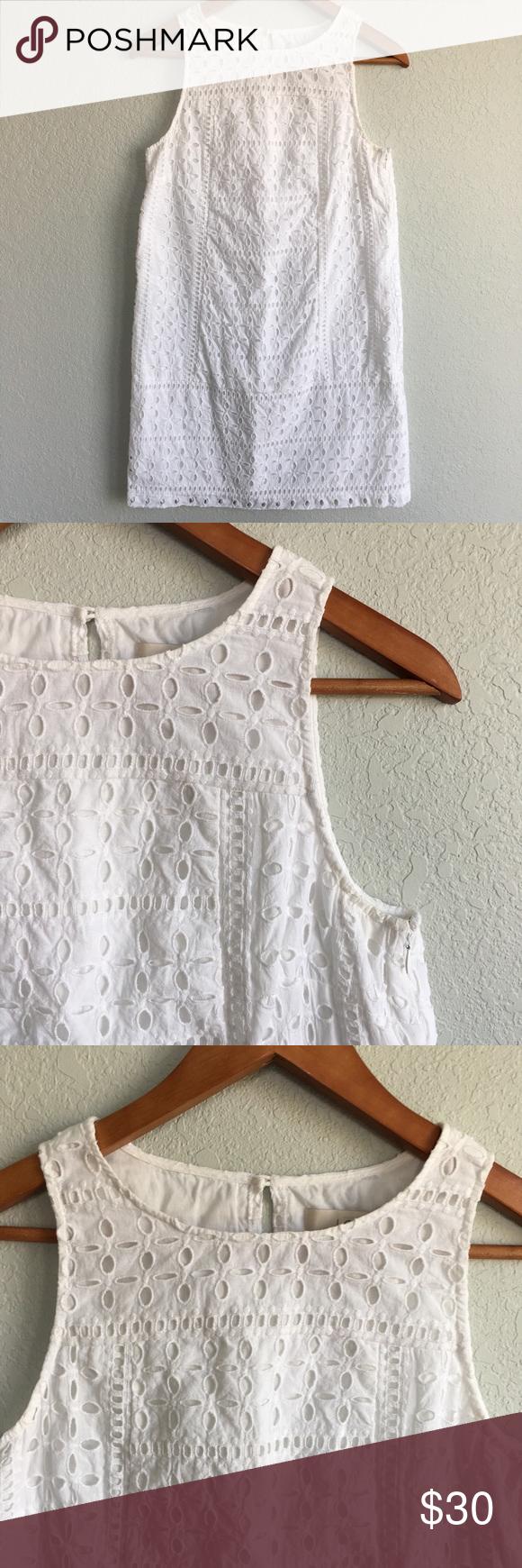 Ann Taylor Loft White Eyelet Shift Dress Summer Summer Shift Dress White Eyelet Shift Dress [ 1740 x 580 Pixel ]