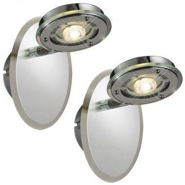 2er Set LED 5 Watt Wand Leuchte Esszimmer Strahler beweglich Glas - leuchten wohnzimmer landhausstil