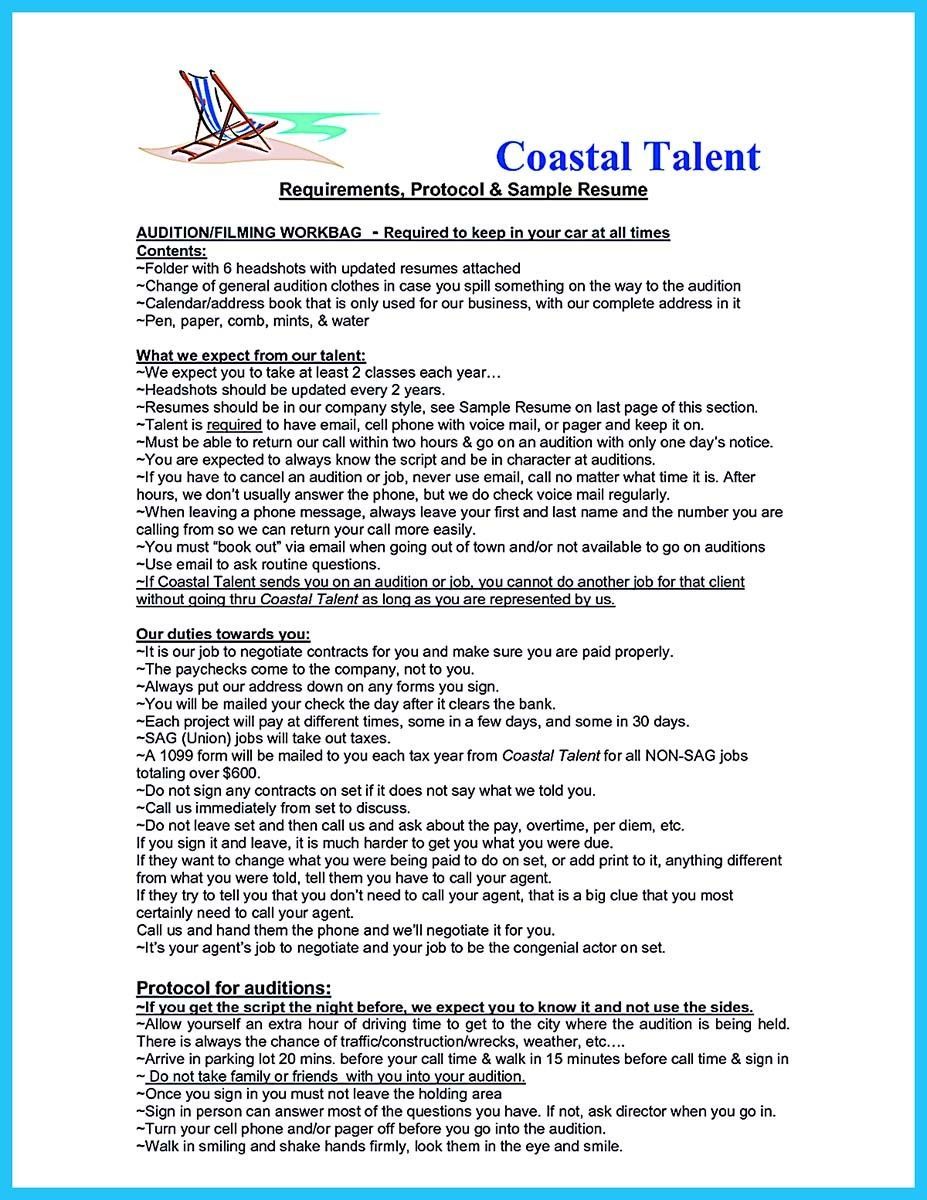 cool learning to write an audition resume check more at httpsnefci - Audition Resume Format