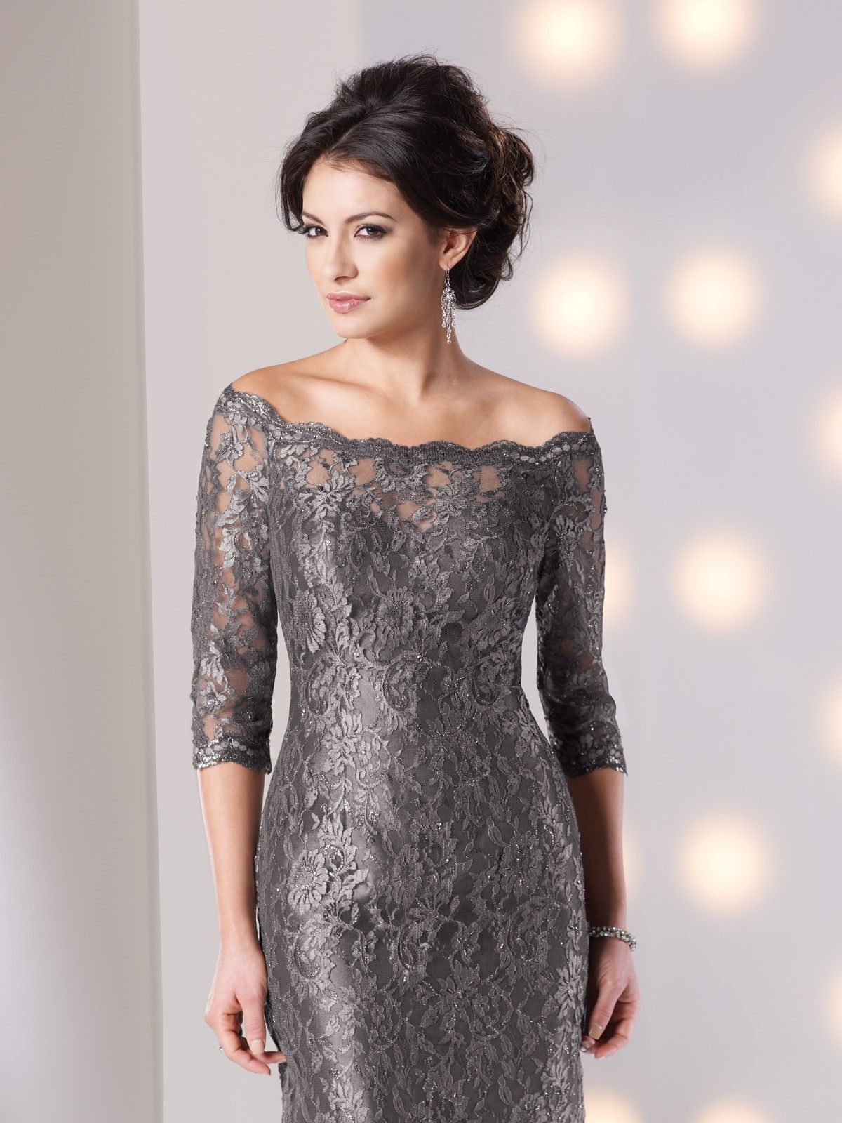 Lace Knee Length Mother Of The Brides Dress Mother Of