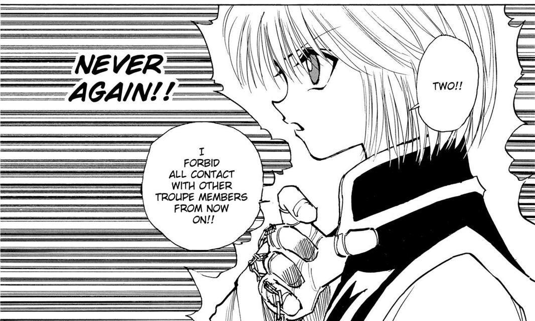 Kurapika manga cap, chapter 117 Hunter x Hunter Hunter x