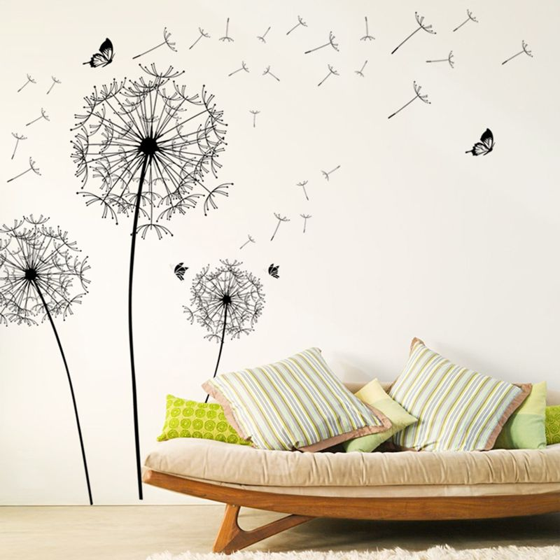 Flying Dandelion Wall Decals Removable