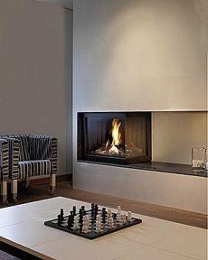 corner fireplace Front Hall Pinterest Fireplace design