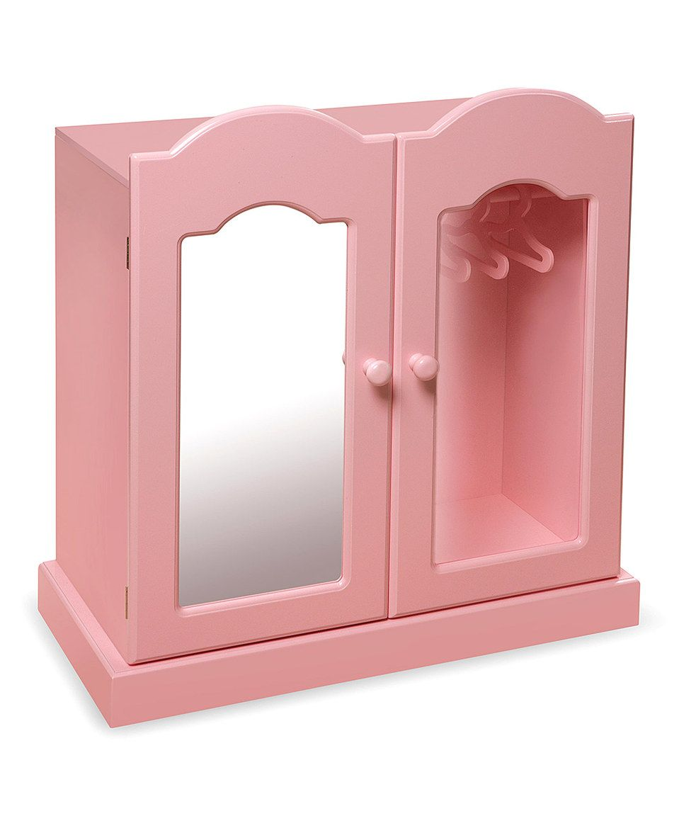 Another great find on zulily pink doll wardrobe by badger basket