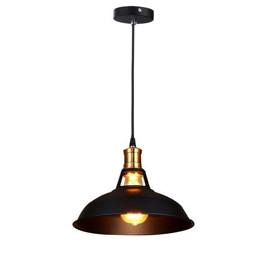 Fuloon Retro Industrial Edison Simplicity Mini Metal Pendant Light 1 Light Antique Finish with Metal Shade Umbrella Shade in Old Factory Style for Indoor Hallway Foyer Dining Living Room Bedroom (White): Amazon.ca: Home & Kitchen