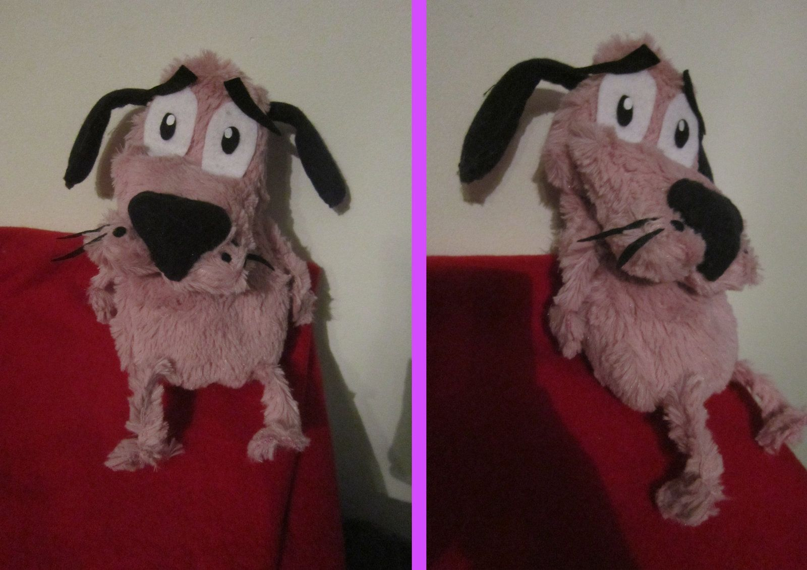 Courage The Cowardly Dog Plush By Ovidiu Hiei Deviantart Com On