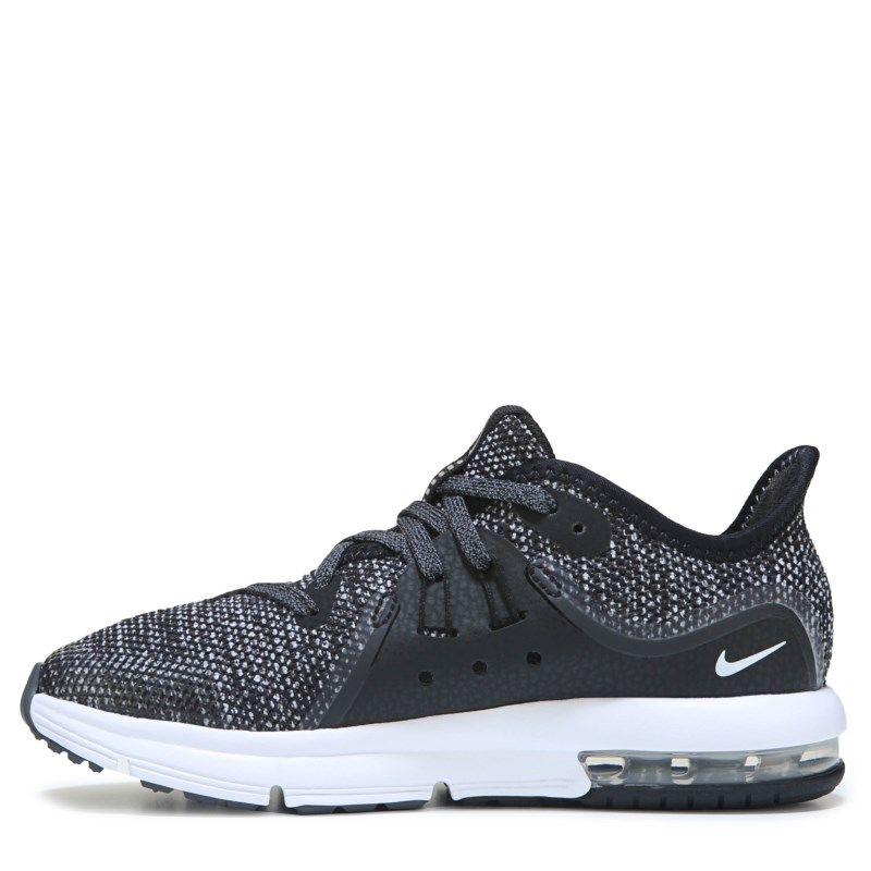 c99839aa9d5ffc Nike Kids  Air Max Sequent 3 Running Shoe Preschool Shoes (Black ...