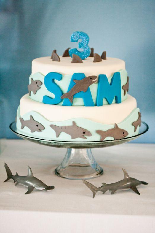 Shark Designed Cookie Cake