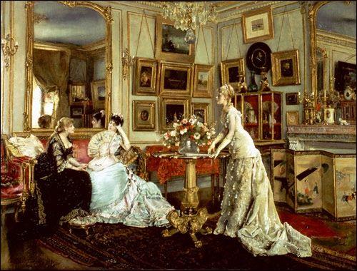 Alfred stevens le salon du peintre artistes for Salon chat sexe