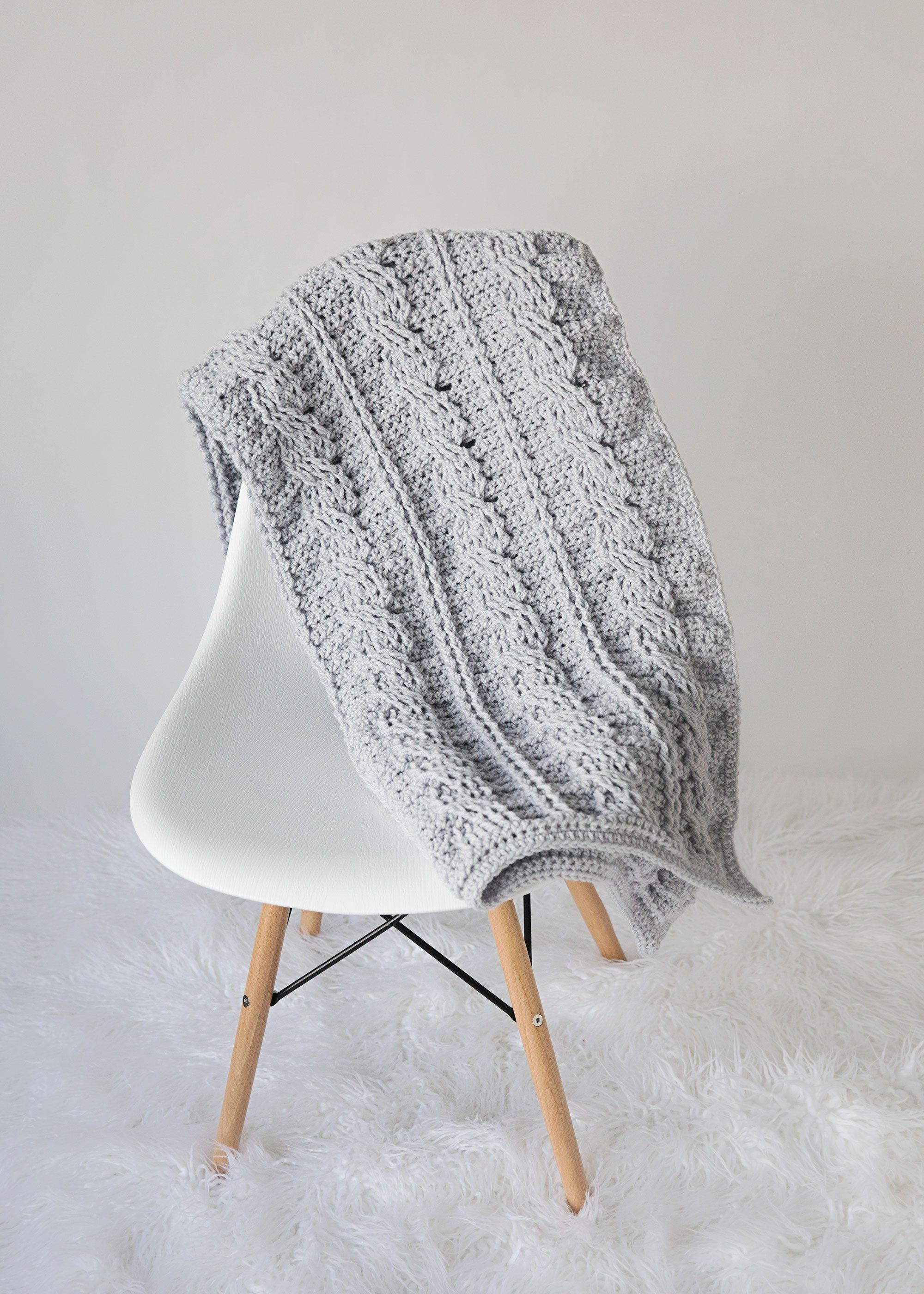 Timeless Cabled Throw Crochet Pattern - Leelee KnitsLeelee Knits ...