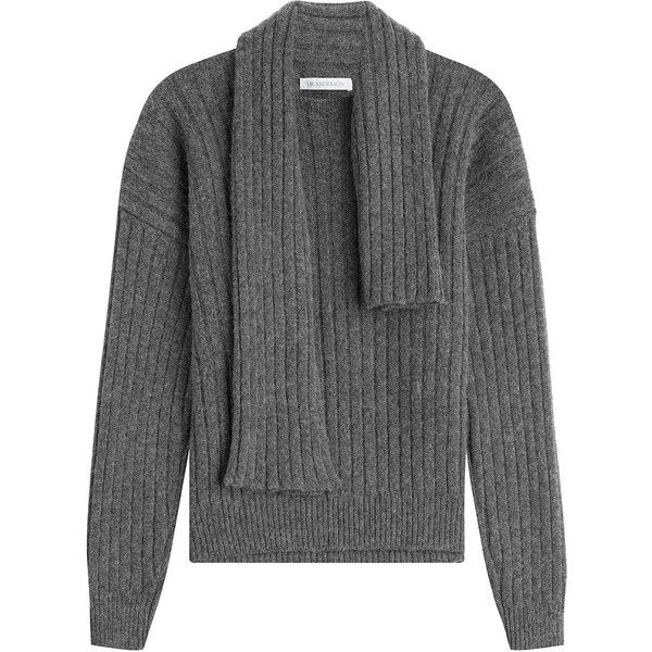 c309f597e231f2 J.W. Anderson Knitted Wool Blend Pullover (4 070 ZAR) ❤ liked on Polyvore  featuring