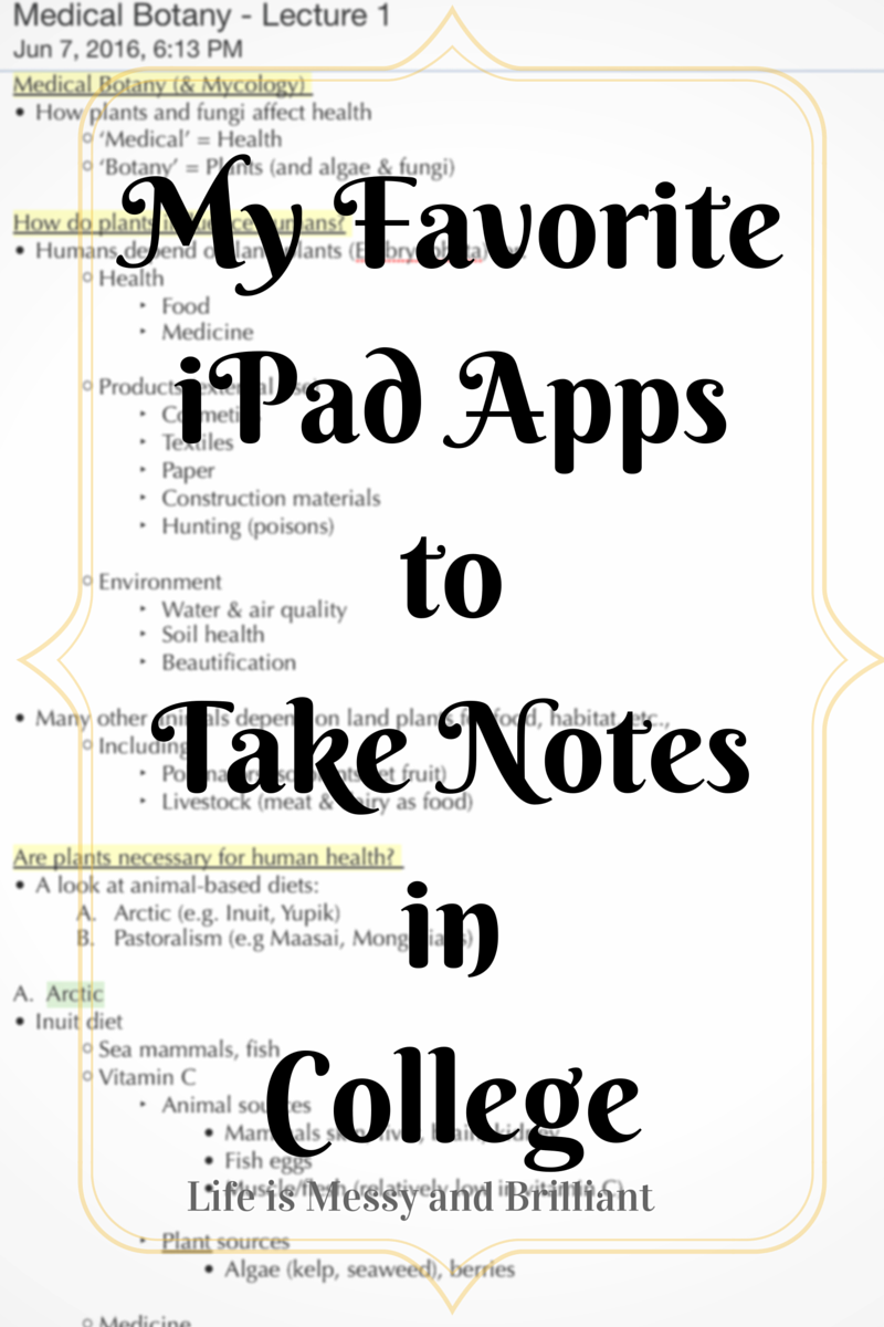 The Best College Note Taking Apps for iPad College notes