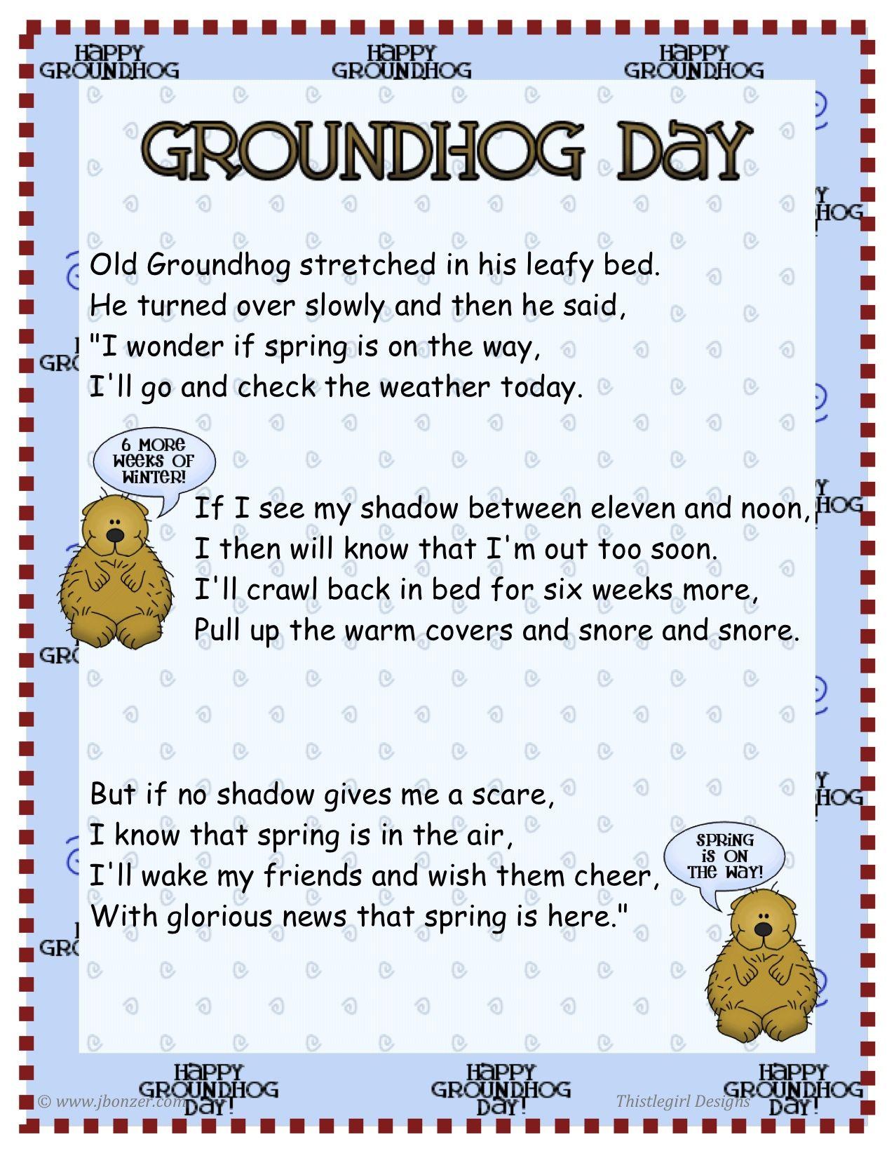 Cute Groundhog S Day Poem