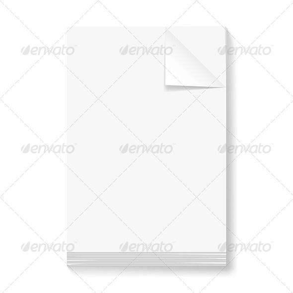 Stack Of Blank Papers Paper Stack Sheets