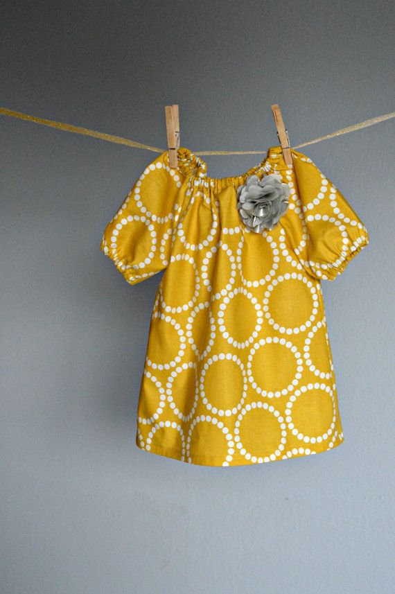 409a6f2ef Dress Fall mustard yellow baby girl toddler outfit sunshine birthday ...