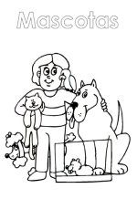 Free Spanish book about pets. Print out the book and color