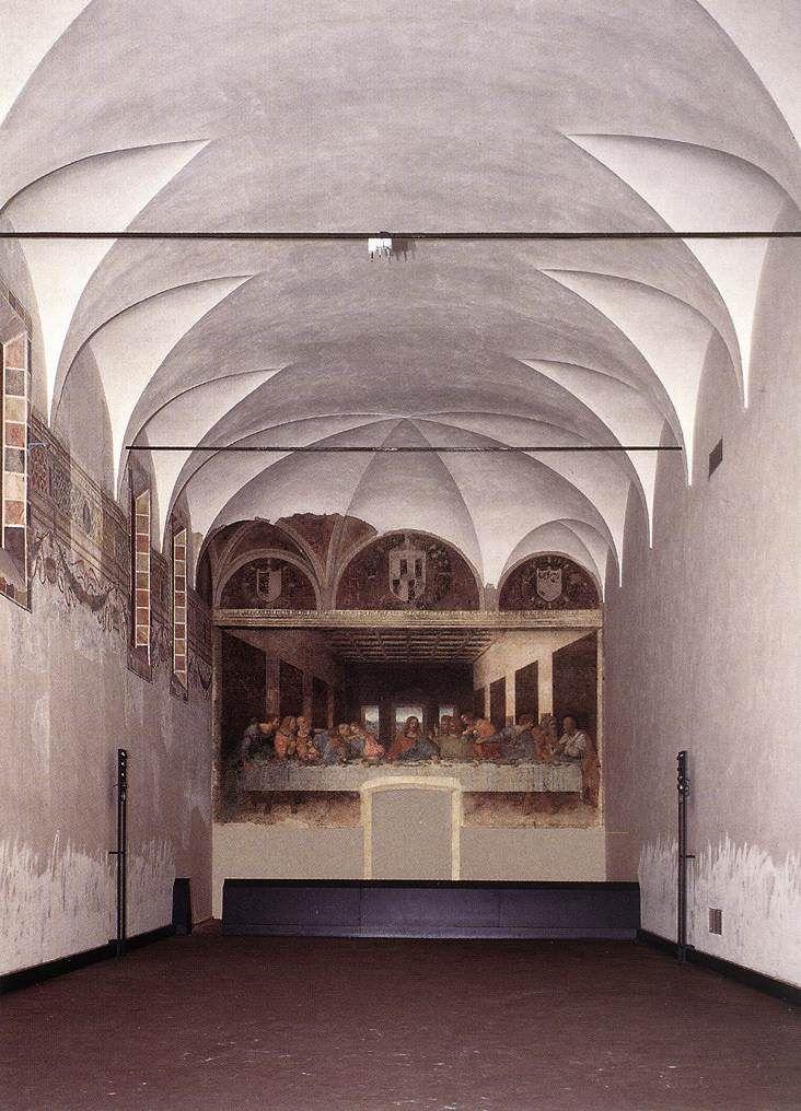 Image result for Milan the last supper painting da vinci