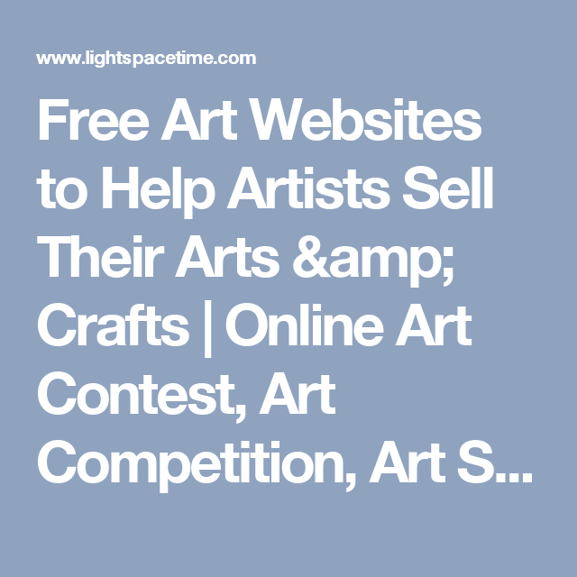 Free Art Websites to Help Artists Sell Their Arts & Crafts   Online ...