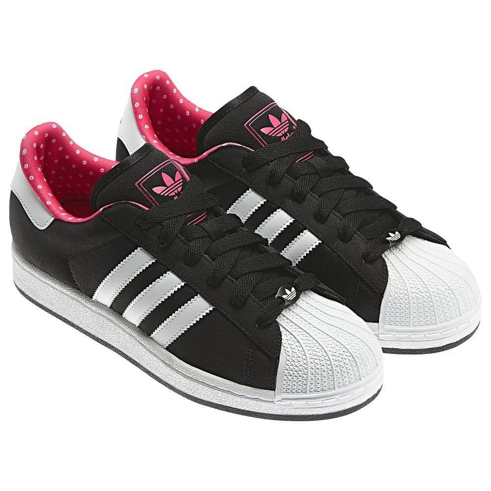 60df347ef615 ... ireland adidas originals ladies women superstar 2 black trainer shoes uk  size 3.5 4 girl bf523
